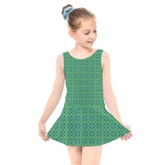 Esmeralda Kids  Skater Dress Swimsuit by deformigo