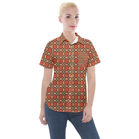 Tinabia Women s Short Sleeve Pocket Shirt by deformigo
