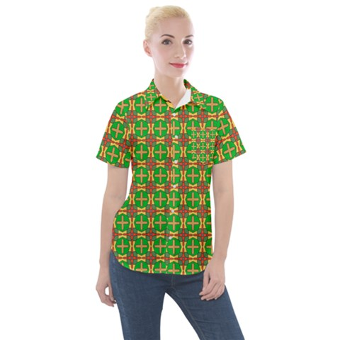 Yasawa Women s Short Sleeve Pocket Shirt by deformigo
