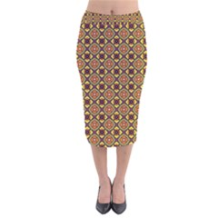Pitaka Velvet Midi Pencil Skirt by deformigo
