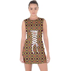 Pitaka Lace Up Front Bodycon Dress by deformigo