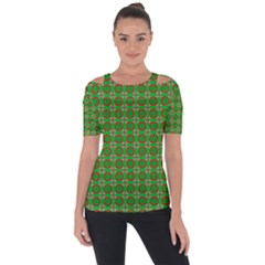 Ansendonia Shoulder Cut Out Short Sleeve Top by deformigo