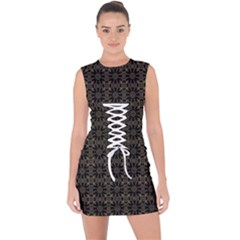 Sikanni Lace Up Front Bodycon Dress by deformigo
