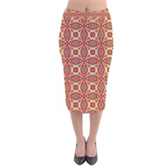 Miglieri Velvet Midi Pencil Skirt by deformigo