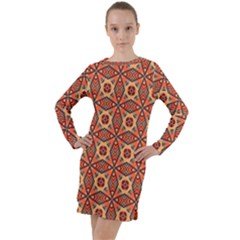 Miglieri Long Sleeve Hoodie Dress by deformigo