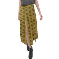 Teressa Velour Split Maxi Skirt by deformigo