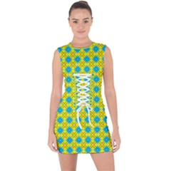 Taroa Lace Up Front Bodycon Dress by deformigo