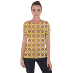Terrivola Shoulder Cut Out Short Sleeve Top by deformigo