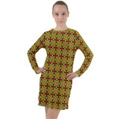Sipirra Long Sleeve Hoodie Dress by deformigo