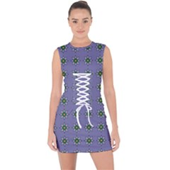 Taffia Lace Up Front Bodycon Dress by deformigo