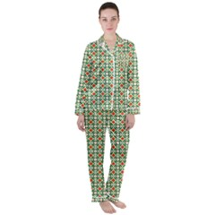 Masella Satin Long Sleeve Pyjamas Set