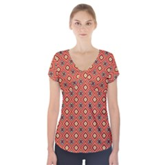 Dragonfly Short Sleeve Front Detail Top by deformigo