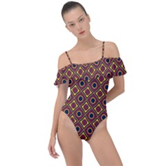 Socotra Frill Detail One Piece Swimsuit by deformigo