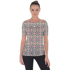 Noronkey Shoulder Cut Out Short Sleeve Top by deformigo