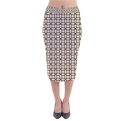 Esperanto Velvet Midi Pencil Skirt by deformigo