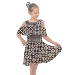 Esperanto Kids  Shoulder Cutout Chiffon Dress by deformigo