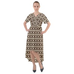 Esperanto Front Wrap High Low Dress by deformigo