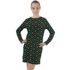 Socorro Long Sleeve Hoodie Dress by deformigo
