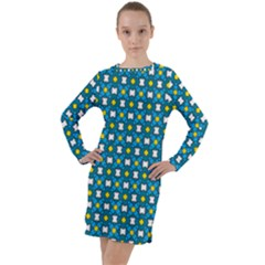 Suplado Long Sleeve Hoodie Dress by deformigo