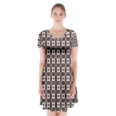 Talami Short Sleeve V-neck Flare Dress by deformigo