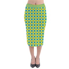 Bisento Velvet Midi Pencil Skirt by deformigo