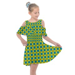 Bisento Kids  Shoulder Cutout Chiffon Dress by deformigo