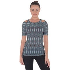 Sotira Shoulder Cut Out Short Sleeve Top by deformigo