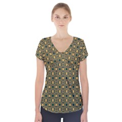 Delford Short Sleeve Front Detail Top
