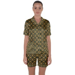 Delford Satin Short Sleeve Pyjamas Set
