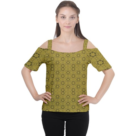 Damietta Cutout Shoulder Tee by deformigo