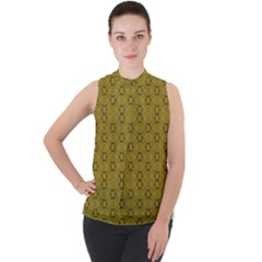 Damietta Mock Neck Chiffon Sleeveless Top by deformigo