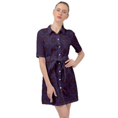 Keyudo Belted Shirt Dress by deformigo