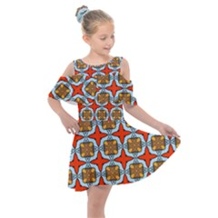 Ascain Kids  Shoulder Cutout Chiffon Dress by deformigo