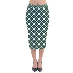 Aronido Velvet Midi Pencil Skirt by deformigo
