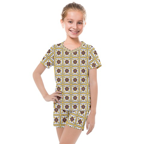 Lumio Kids  Mesh Tee And Shorts Set by deformigo
