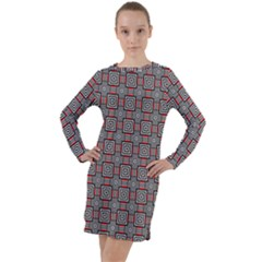 Vincentia Long Sleeve Hoodie Dress by deformigo