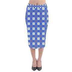 Mathiveri Velvet Midi Pencil Skirt by deformigo
