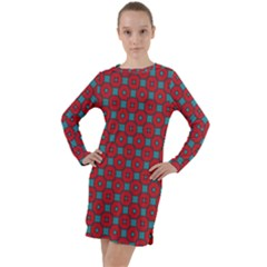 Nukanamo Long Sleeve Hoodie Dress by deformigo