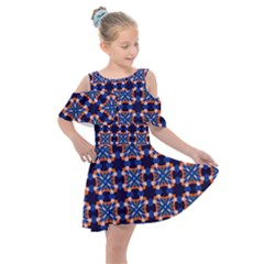 Lakatamia Kids  Shoulder Cutout Chiffon Dress by deformigo