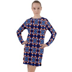 Lakatamia Long Sleeve Hoodie Dress by deformigo