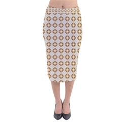 Antonimo Velvet Midi Pencil Skirt by deformigo