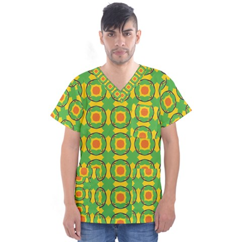 Nadallaa Men s V Neck Scrub Top by deformigo