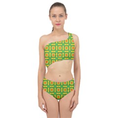Nadallaa Spliced Up Two Piece Swimsuit
