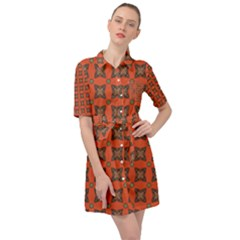 Geremea Belted Shirt Dress by deformigo