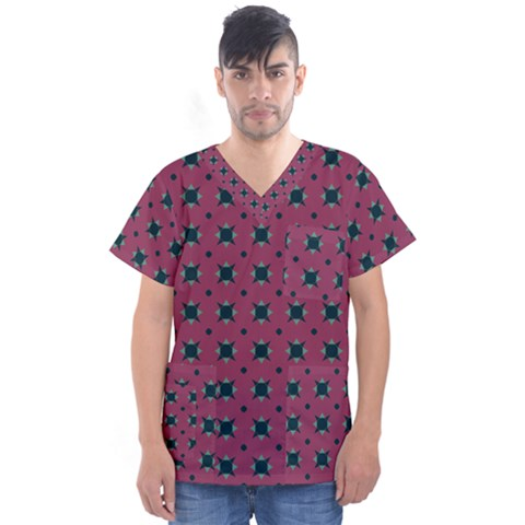 Sampolo Men s V-neck Scrub Top by deformigo