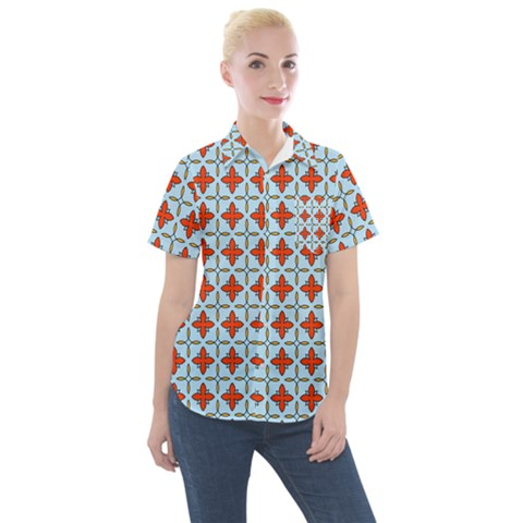 Montalvo Women s Short Sleeve Pocket Shirt by deformigo