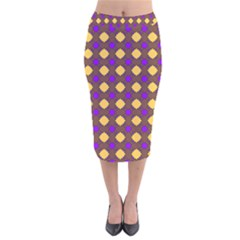 Mezzana Velvet Midi Pencil Skirt by deformigo