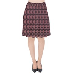Chocolour Velvet High Waist Skirt by deformigo