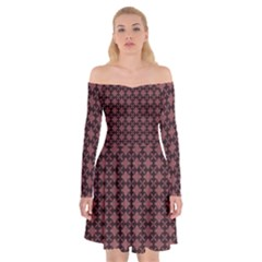 Chocolour Off Shoulder Skater Dress by deformigo