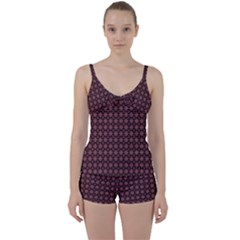 Chocolour Tie Front Two Piece Tankini by deformigo